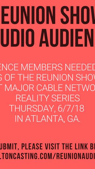 Seeking Reality Series Reunion Studio Audience 6/7/18