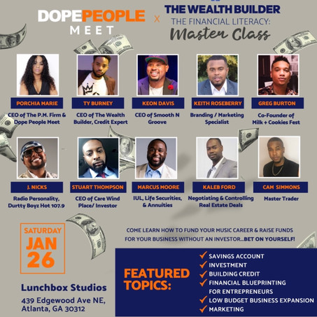 Dope People Meet x The Wealth Builder Master Class