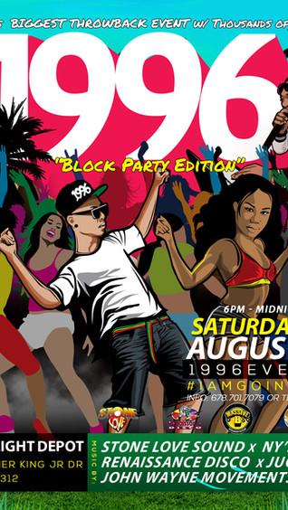 1996 Block Party Event at GA Freight Depot
