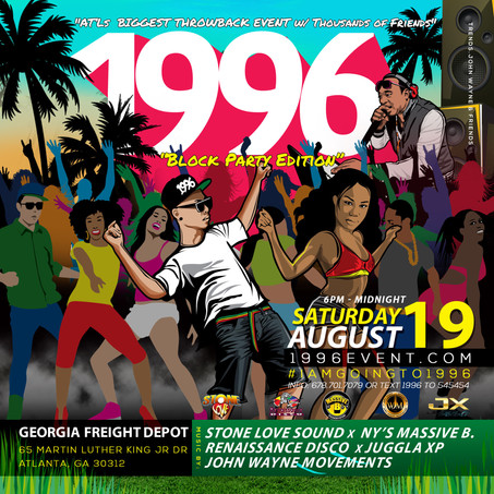1996 Block Party Event at GA Freight Depot