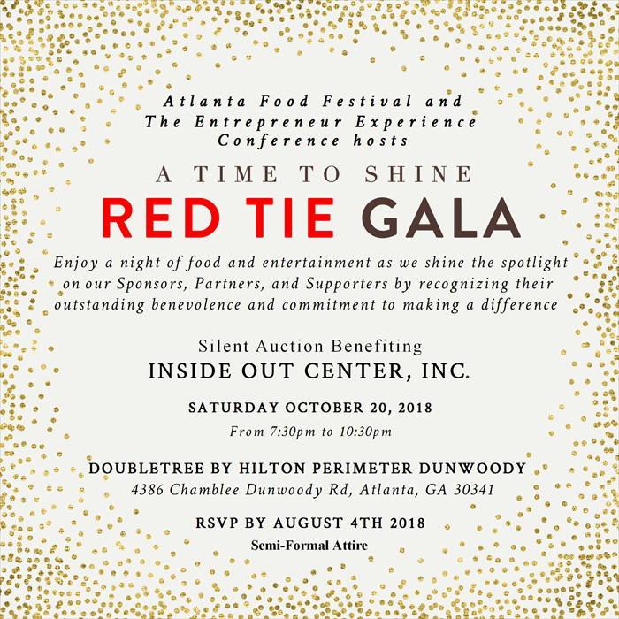 The Atlanta Food Festival red Tie Gala