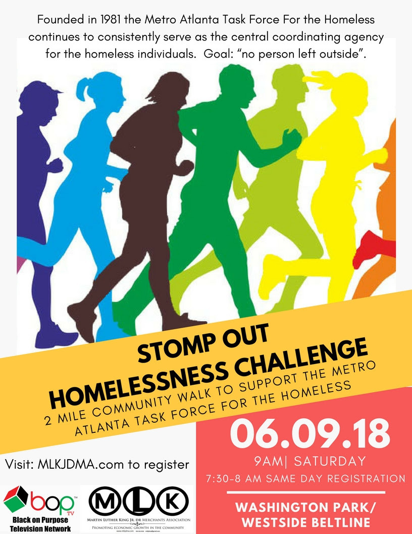 Stomp Out Homelessness Challenge 6/9/2018