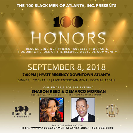 100 Black Men of Atlanta Honorees September 8th Gala