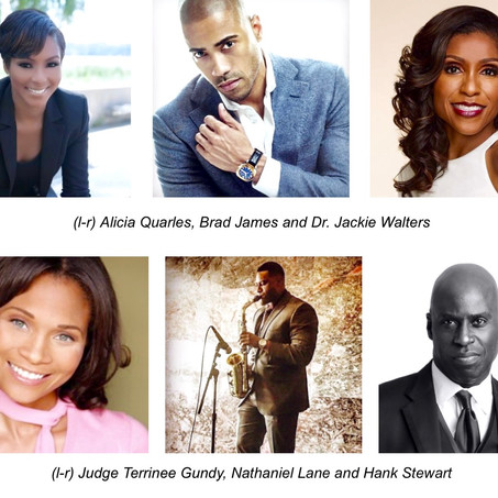DAILY MAIL TV's ALICIA QUARLES &ACTOR BRAD JAMES HOST DR. JACKIE WALTERS'ANNUAL 50 SHA
