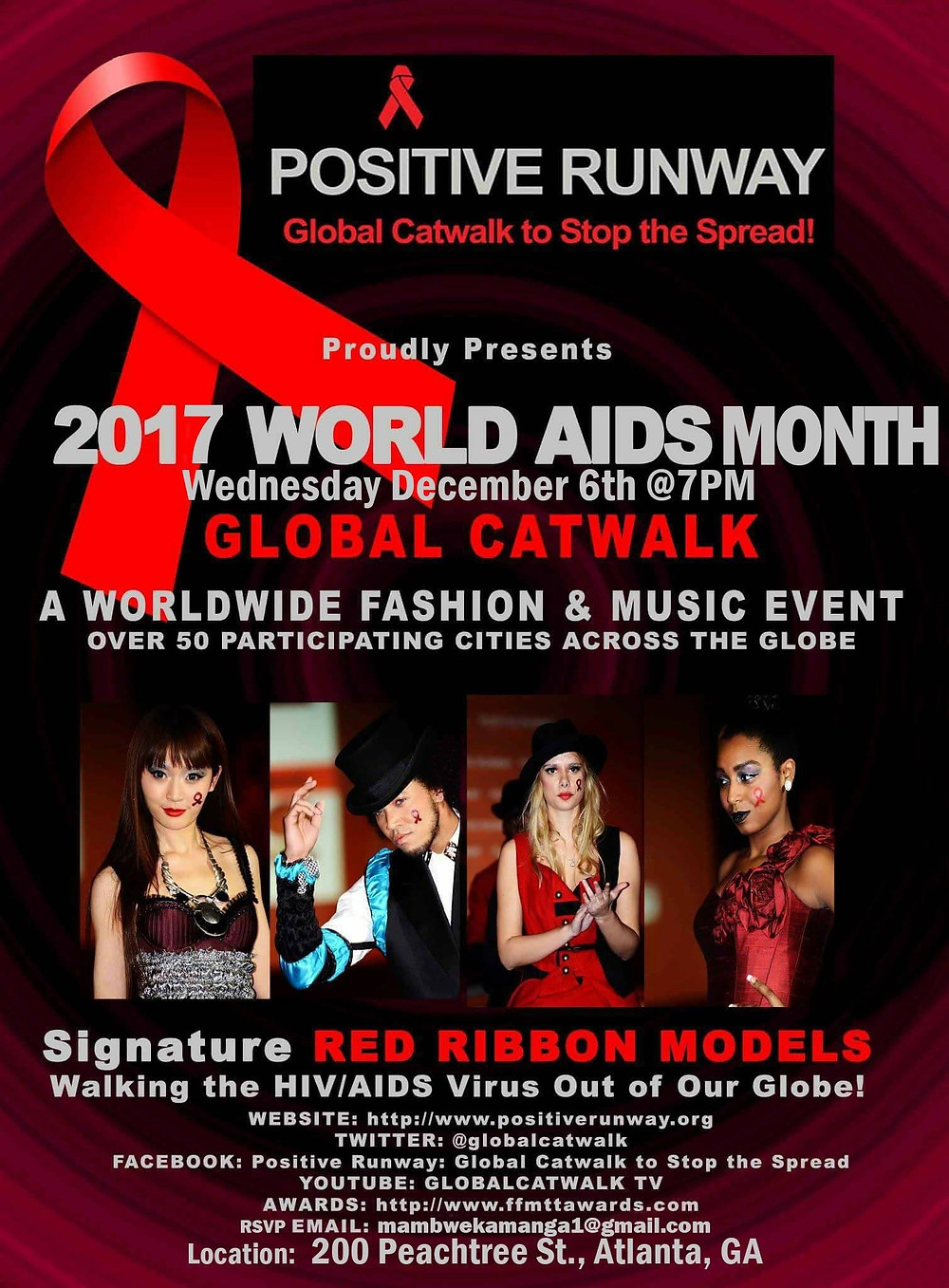 Positive Runway World Aids Day Event Global Catwalk