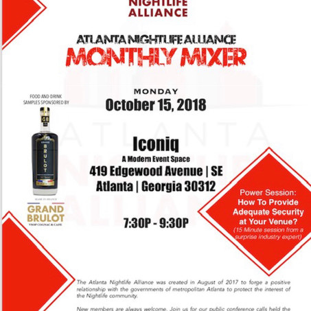 Protect Atlanta's Nightlife Community w/Complimentary Cocktails & Food
