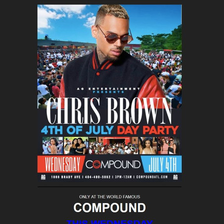 CHRIS BROWN 4TH OF JULY DAY PARTY AT COMPOUND