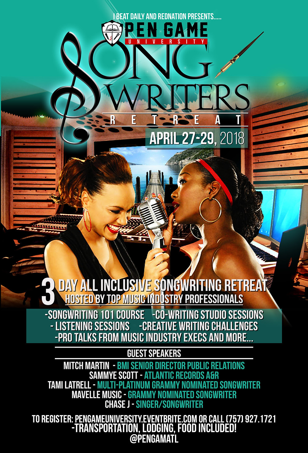 Atlantic Records, BMI, and More @PenGame Songwriters Retreat this Weekend!