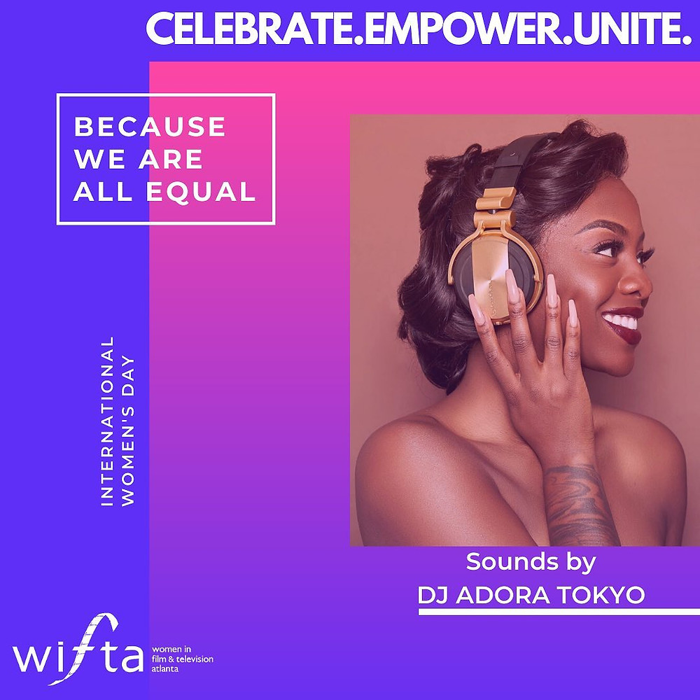 Join us for the most impactful virtual #womenshistorymonth celebration on Tuesday, March 31st from 7-9pm EST! FREE for all attendees. Sounds curated by @adoratokyo ! Register at www.wifta.org ! #womeninfilm #womeninfilmatlanta
