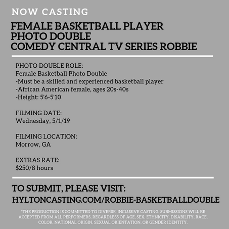 Casting Female Basketball Player for Comedy Central TV