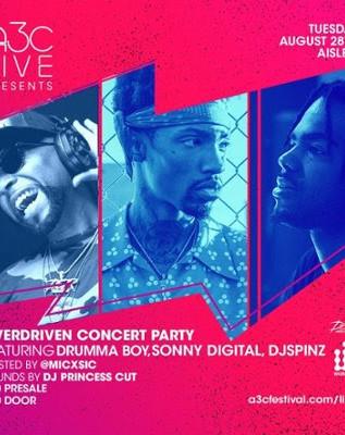 TOMORROW: Concert Party w/ Atlanta's Drumma Boy + Sonny Digital + DJ Spinz