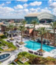 Downtown Houston apartment pool views