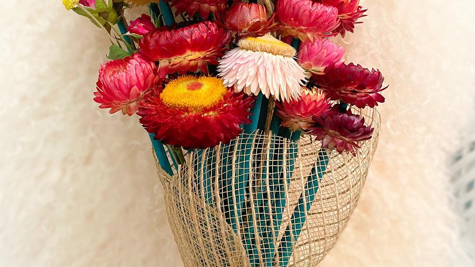 large dried floral bouquet