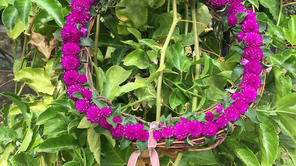 Gomphrena floral Wreath
