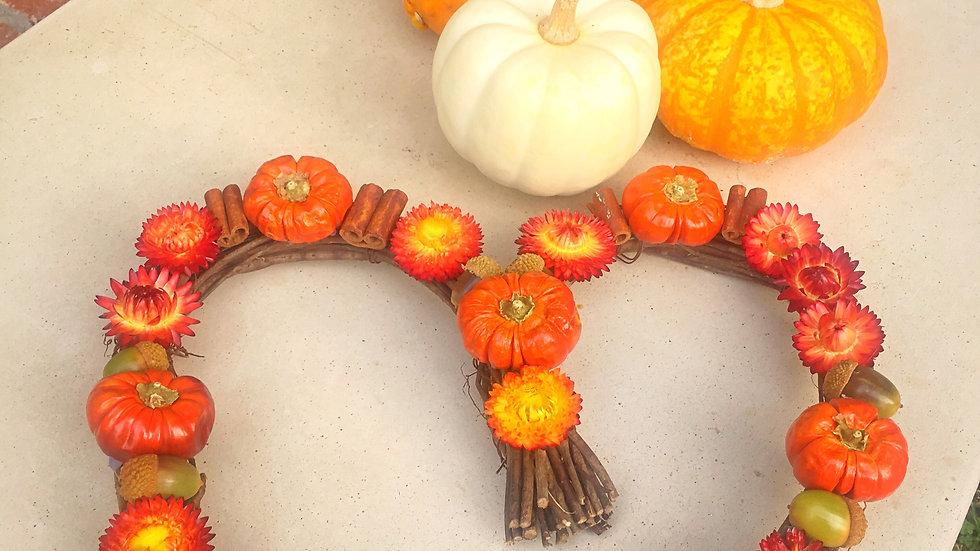 heart shaped fall wreath