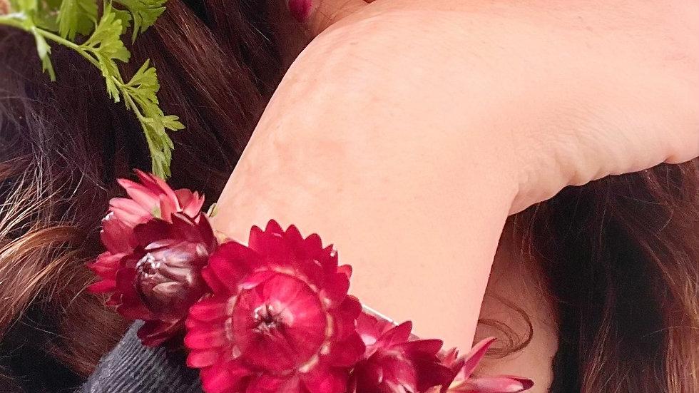 dried floral cuff/bracelet