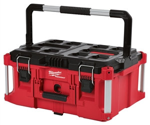 Milwaukee 48-22-8425 Tool Box, 100 lb, Polymer, Red, 22.1 in L x 16.1 in W x 11.