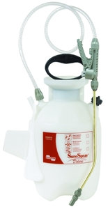 CHAPIN SureSpray 26010 Compression Sprayer, 1 gal Tank, Poly Tank, 34 in L Hose