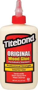 Titebond 5063 Wood Glue, Yellow, 8 oz Bottle