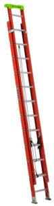 Louisville L-3022-24PT Extension Ladder, 286 in H Reach, 300 lb, 1-1/2 in D Step