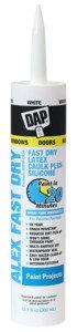 DAP 18425 Acrylic Latex Caulk, White, 24 hr Curing, 10.1 fl-oz Cartridge