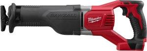 Milwaukee 2621-20 Reciprocating Saw, 18 V, 1-1/8 in L Stroke, Black/Metal/Red