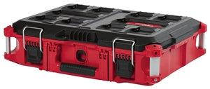 Milwaukee 48-22-8424 Tool Box, 75 lb, Plastic, Red, 22.1 in L x 16.1 in W x 6.6