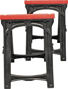 Professional Woodworker 52229 Folding Sawhorse, 500 lb, 16.14 in W, 33.07 in H,