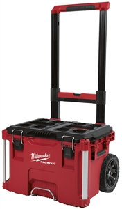 Milwaukee PACKOUT 48-22-8426 Rolling Tool Box, 250 lb, Plastic, Red, 18.6 in L x