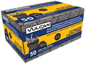 VULCAN FG-03812-08A Contractor Bag, 42 gal Capacity, Black
