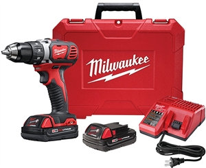 Milwaukee 2606-22CT Drill/Driver Kit, 18 V Battery, M18 Lithium-Ion Battery, 1/2