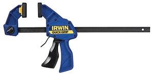 IRWIN QUICK-GRIP 1964718 Medium-Duty Bar Clamp/Spreader, 300 lb, 12 in Max Openi