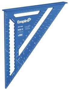 Empire E3992 Rafter Square, 0.13 in Graduation, Aluminum, 12 in L, 11.9 in W