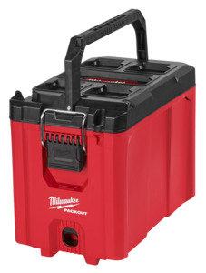 Milwaukee PACKOUT 48-22-8422 Compact Tool Box, 75 lb, Polypropylene, Red, 16.2 i