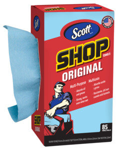 Scott 75090 Shop Towels, Blue, 10 in