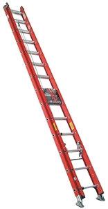 WERNER D6224-2 Extension Ladder, 23 ft H Reach, 300 lb, Fiberglass