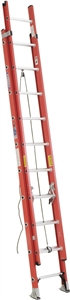 WERNER D6220-2 Extension Ladder, 300 lb Weight Capacity, 17 ft L Extension, Fibe