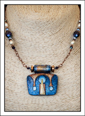 """""""Art Deco #1 - Abstract Art"""" Necklace  (02-009)"""