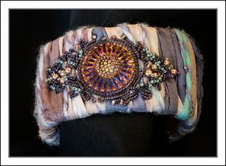 """""""Hand Embroidered Sari Silk"""" Cuff"""