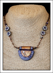 """""""Art Deco #3 - Abstract Art"""" Necklace  (02-013)"""