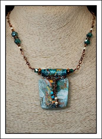 """Abstract Art"" Necklace (02-018)"