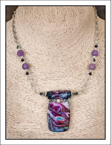 """Abstract Art"" Necklace (02-002)"