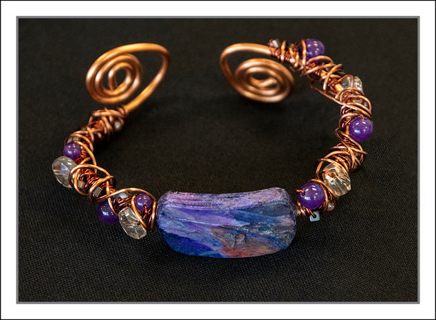 """Abstract Art"" Bracelet #2  (02-010)"