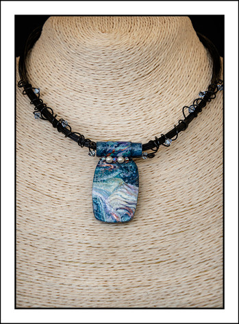 """Abstract Art"" Necklace (02-005)"