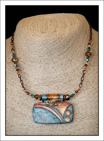 """Art Deco #2 - Abstract Art"" Necklace (02-016)"