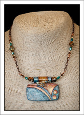"""""""Art Deco #2 - Abstract Art"""" Necklace (02-016)"""