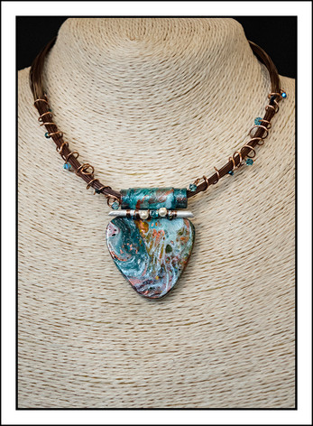 """Abstract Art"" Necklace (02-022)"