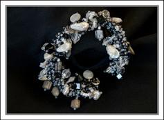 """""""Art Deco"""" Beaded Bracelet (03-003)"""