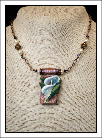 """Lilly - Abstract Art"" Necklace (02-025)"