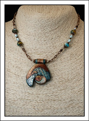"""Abstract Art"""" Necklace  (02-024)"""